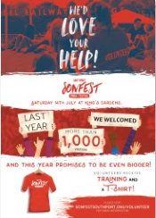 Sonfest Southport Music Festival Volunteers Poster-A4